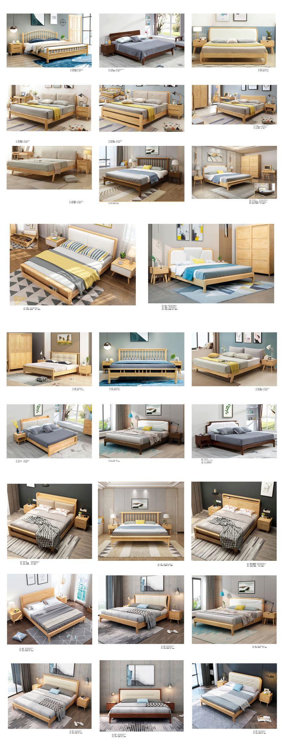欧式实木床轻奢款原木床-古林家居